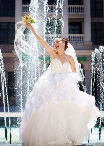 sposa felice