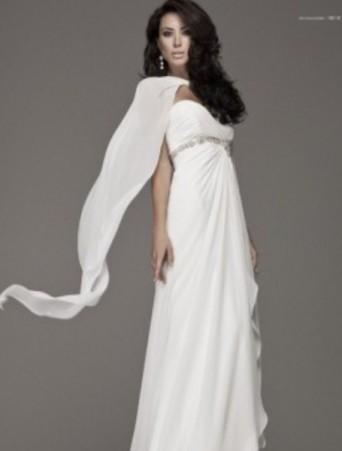 vestito da sposa scivolato blumarine decollete dritto stile impero chiffon decorazione strass sottoseno
