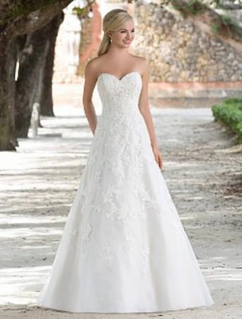 vestito da sposa sincerity svasato decollete a cuore organza e pizzo
