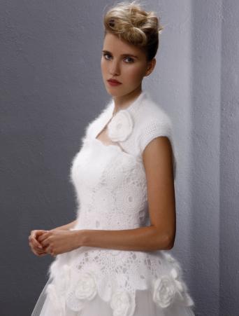 vestito da sposa Tosca Spose coprispalle in lana mohair