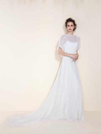 tosca spose vestito da sposa sottoveste scivolato con casacchina in lana mohair