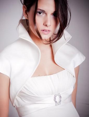 Joelia giacchino sposa in mikado
