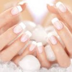 french manicure sposa
