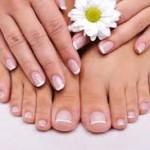 french manicure e pedicure sposa