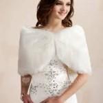 stola sposa in pelliccia ecologica