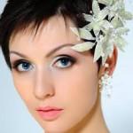 acconciatura sposa capelli corti taglio sfilato