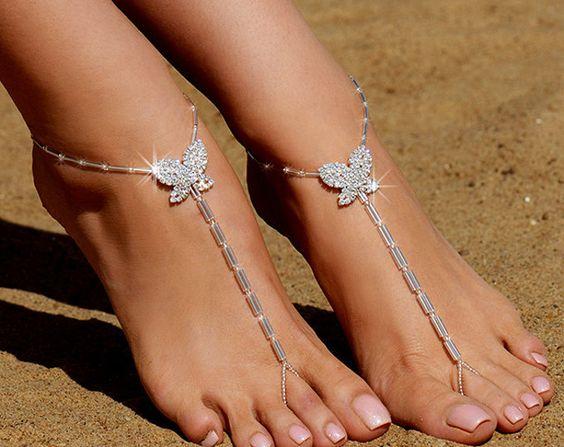 sandalo sposa piede nudo swarovsky