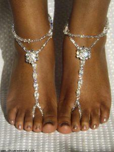 sandali sposa piede nudo