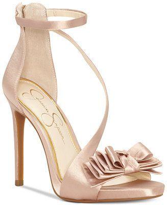 sandalo  rosa in raso