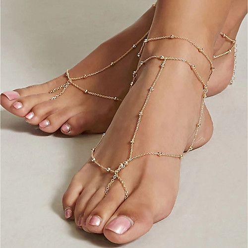 sandalo sposa piede nudo catenella
