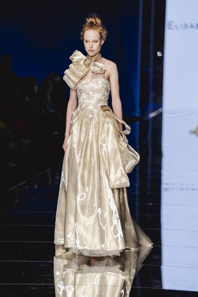 abito da sposa avorio e oro Elisabetta Polignano collezione 2020