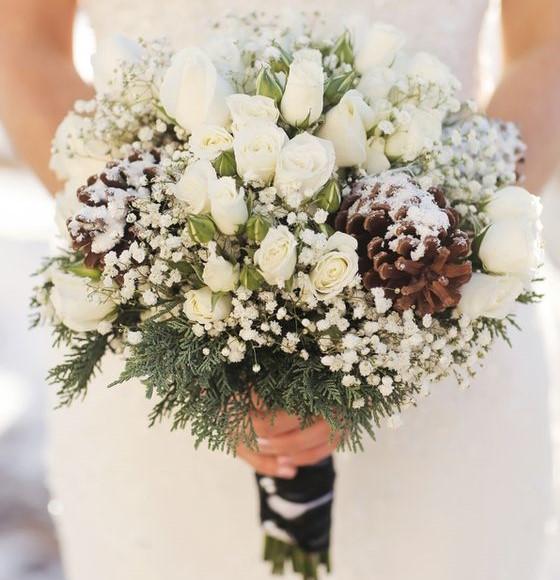 bouquet da sposa invernale
