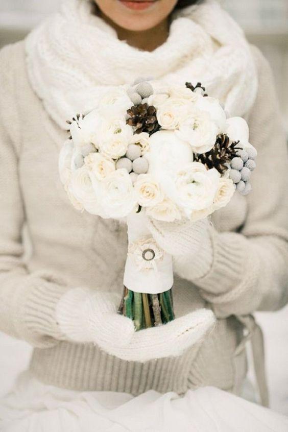 guanti da sposa in lana