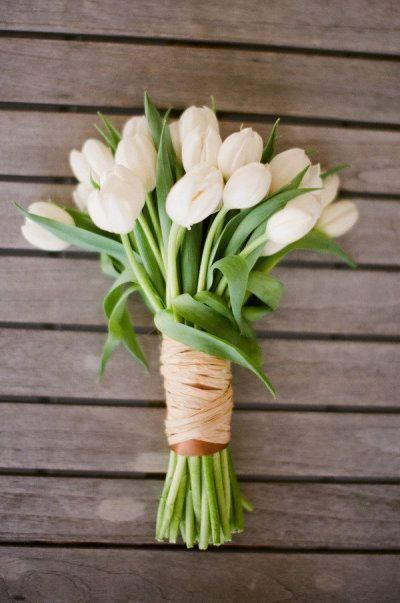 bouquet da sposa di tulipani