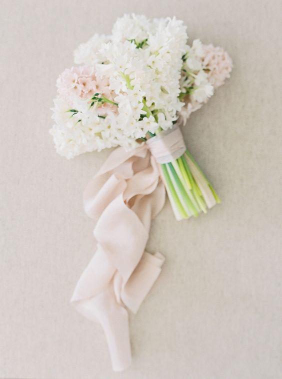 bouquet da sposa di  giacinti