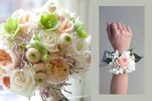 Bracciale di fiori sposa