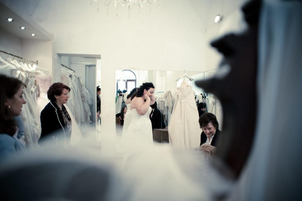 prova abito sposa curvy