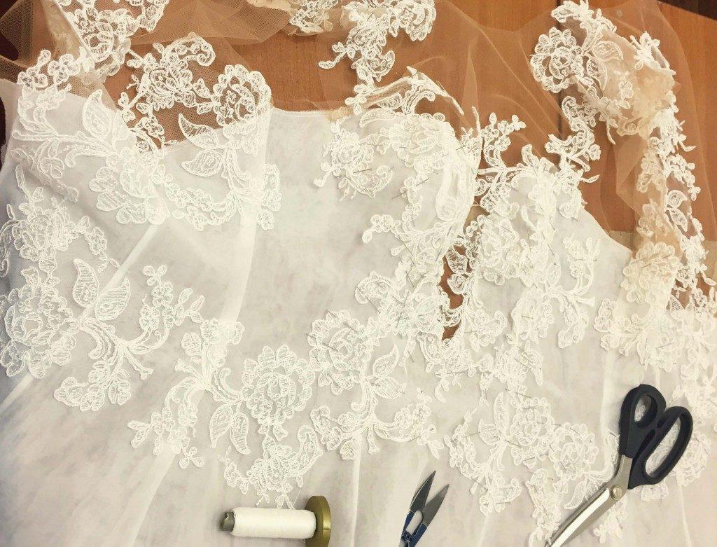 nascita di un abito da sposa