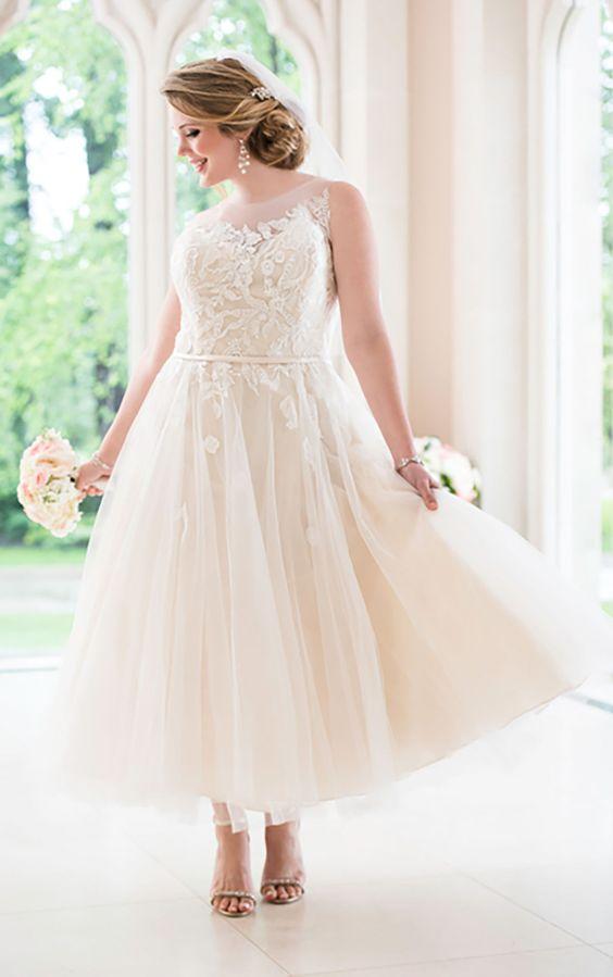 abito da sposa curvy longuette