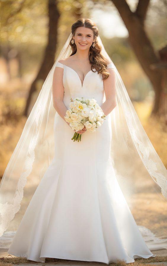 abito da sposa curvy a sirena