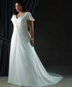 vestito da sposa curvy stile impero georgette