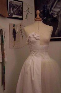 tela di prova per abito da sposa