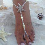 sandalo sposa piede nudo matrimonio in spiaggia