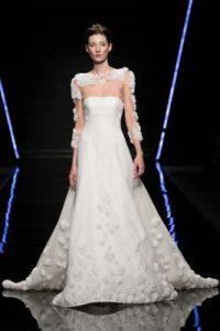 vestito da sposa Enzo Miccio collezione 2019 effetto 3D