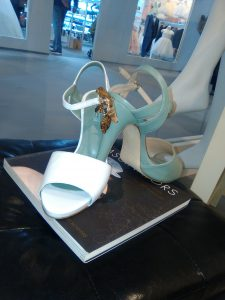 scarpe da sposa Liceo Modisteria con applicazione artigianale placcata oro 18 k