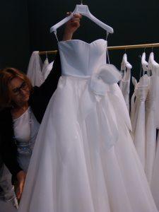 vestito da sposa Tosca spose collezione soffio 2019 particolare