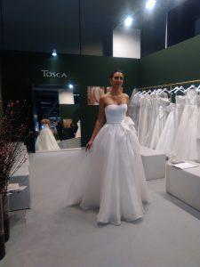 Abito da spsa Tosca Spose Collezione 2019 organza