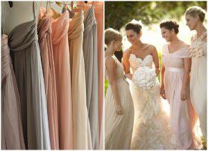 abiti per damigelle di nozze colori pastello