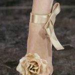 sandali sposa con rosa in seta