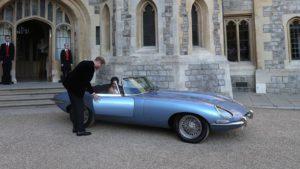 Harry e Meghan sulla Jaguar E-Tipe Concept Zero del 1968