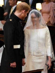 Principe Harry e Megan Markle durante la cerimonia di nozze