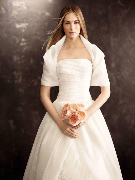 coprispalle sposa ad anello in organza