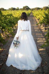 chiodo bianco da sposa