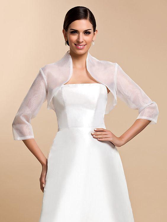 giacchino coprispalle da sposa classico in organza
