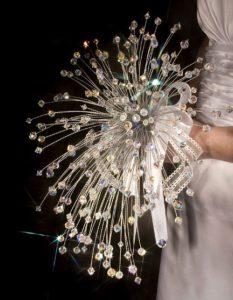 bouquet da sposa in cristalli