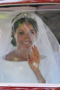 Royal wedding Meghan Markle arriva a St. George's Chapel