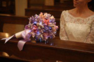 bouquet da sposa luminoso