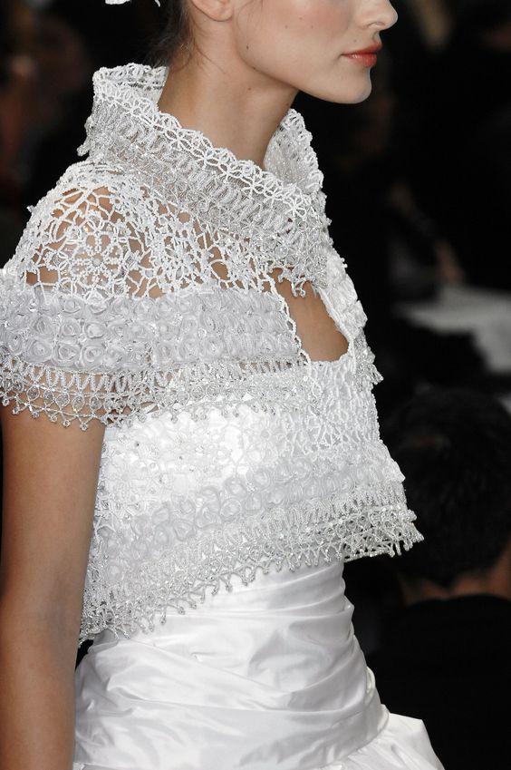 Coprispalle da sposa in cristalli Chanel