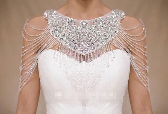 coprispalle sposa in cristalli