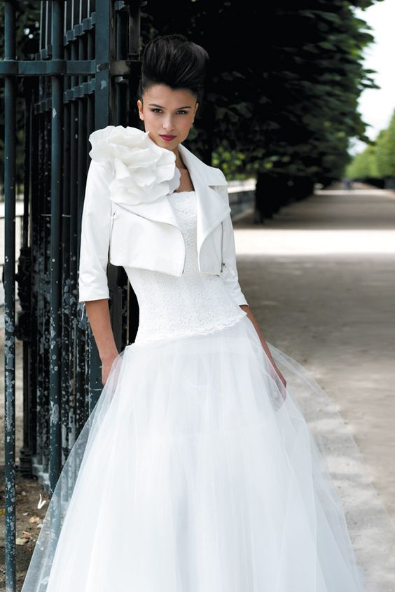 coprispalle sposa chido in pelle bianco