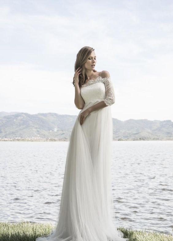 abito da sposa romantico imperoper sposa incinta