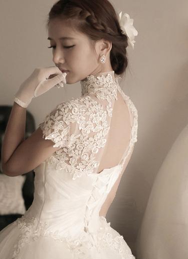 guantini sposa look romantico