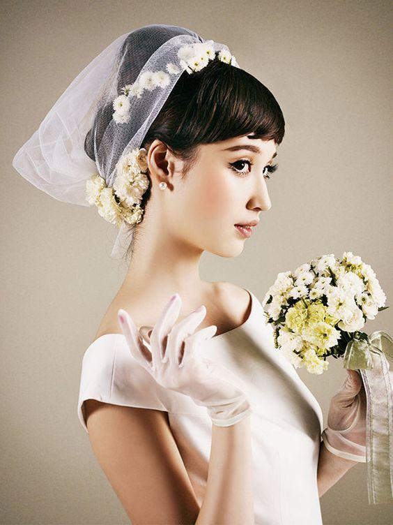 velo da sposa alternativo per sposa campagnola