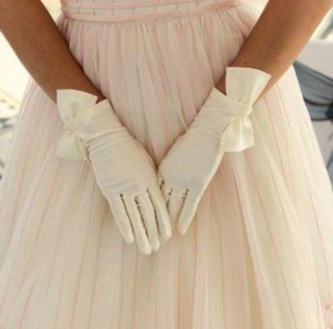 guantini da sposa vintage anni 60