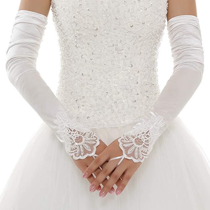guanti da sposa senza dita