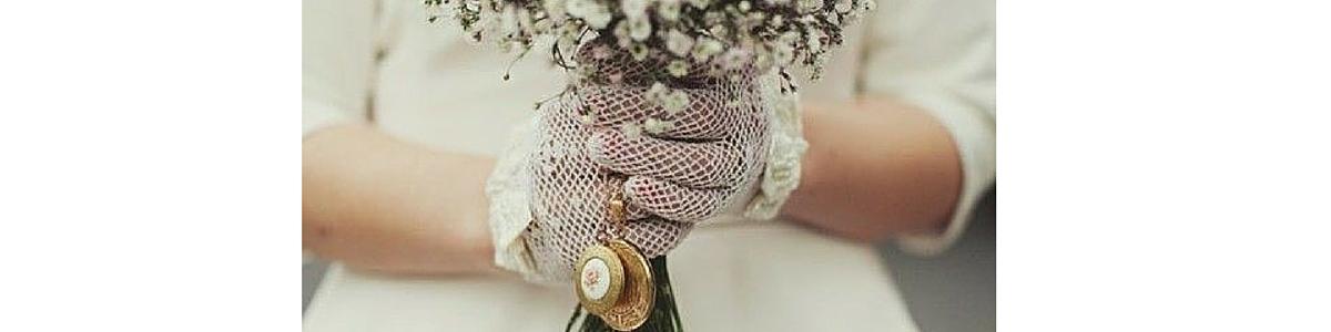 guanti da sposa a rete